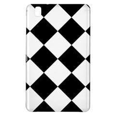 Harlequin Diamond Mosaic Tile Pattern Black White Samsung Galaxy Tab Pro 8.4 Hardshell Case