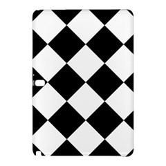 Harlequin Diamond Mosaic Tile Pattern Black White Samsung Galaxy Tab Pro 12.2 Hardshell Case