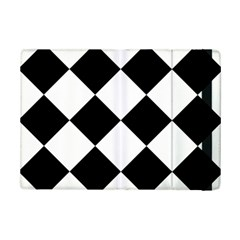Harlequin Diamond Mosaic Tile Pattern Black White Apple iPad Mini 2 Flip Case