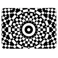 Checkered Black White Tile Mosaic Pattern Samsung Galaxy Tab 7  P1000 Flip Case