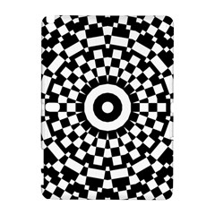 Checkered Black White Tile Mosaic Pattern Samsung Galaxy Note 10.1 (P600) Hardshell Case