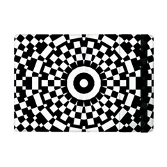 Checkered Black White Tile Mosaic Pattern Apple iPad Mini 2 Flip Case
