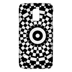 Checkered Black White Tile Mosaic Pattern Samsung Galaxy S5 Mini Hardshell Case