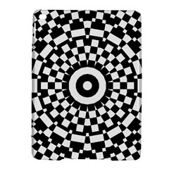 Checkered Black White Tile Mosaic Pattern Apple iPad Air 2 Hardshell Case