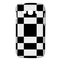 Modified Checkered Mosaic Tile Pattern Black White  Samsung Galaxy Ace 3 S7272 Hardshell Case