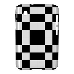 Modified Checkered Mosaic Tile Pattern Black White  Samsung Galaxy Tab 2 (7 ) P3100 Hardshell Case