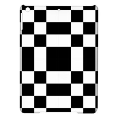 Modified Checkered Mosaic Tile Pattern Black White  Apple iPad Air Hardshell Case