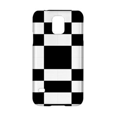Modified Checkered Mosaic Tile Pattern Black White  Samsung Galaxy S5 Hardshell Case