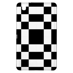 Modified Checkered Mosaic Tile Pattern Black White  Samsung Galaxy Tab Pro 8.4 Hardshell Case
