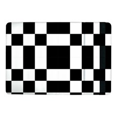 Modified Checkered Mosaic Tile Pattern Black White  Samsung Galaxy Tab Pro 10.1  Flip Case