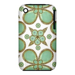 Luxury Decorative Pattern Collage Apple Iphone 3g/3gs Hardshell Case (pc+silicone)