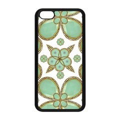 Luxury Decorative Pattern Collage Apple iPhone 5C Seamless Case (Black)