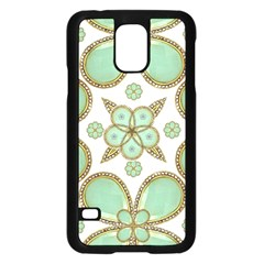 Luxury Decorative Pattern Collage Samsung Galaxy S5 Case (Black)