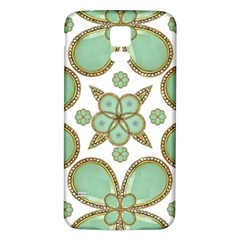 Luxury Decorative Pattern Collage Samsung Galaxy S5 Back Case (White)