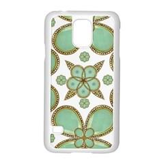 Luxury Decorative Pattern Collage Samsung Galaxy S5 Case (White)