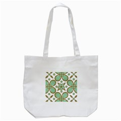 Luxury Decorative Pattern Collage Tote Bag (White)