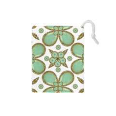 Luxury Decorative Pattern Collage Drawstring Pouch (Small)