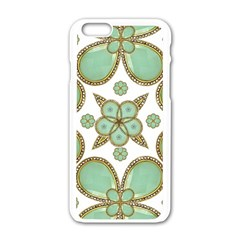 Luxury Decorative Pattern Collage Apple Iphone 6 White Enamel Case