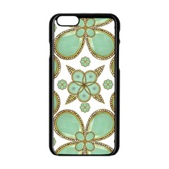 Luxury Decorative Pattern Collage Apple iPhone 6 Black Enamel Case