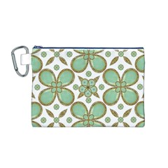 Luxury Decorative Pattern Collage Canvas Cosmetic Bag (Medium)