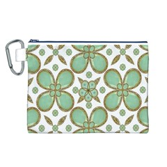 Luxury Decorative Pattern Collage Canvas Cosmetic Bag (Large)