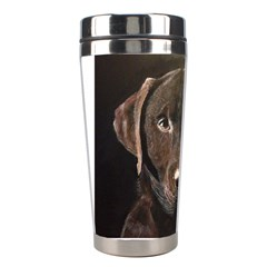 Chocolate Lab Stainless Steel Travel Tumbler