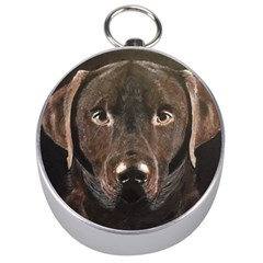 Chocolate Lab Silver Compass