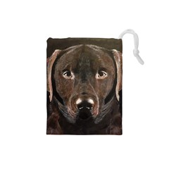 Chocolate Lab Drawstring Pouch (Small)