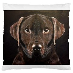 Chocolate Lab Standard Flano Cushion Case (Two Sides)