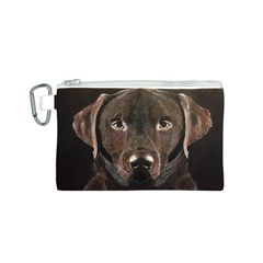 Chocolate Lab Canvas Cosmetic Bag (small)