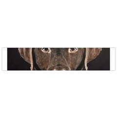 Chocolate Lab Flano Scarf (small)