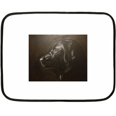 Black Lab Mini Fleece Blanket (two Sided)