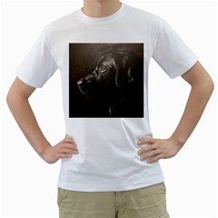 Black Lab Men s T Shirt (white)