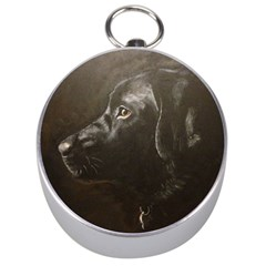 Black Lab Silver Compass