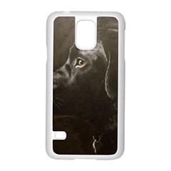 Black Lab Samsung Galaxy S5 Case (white)