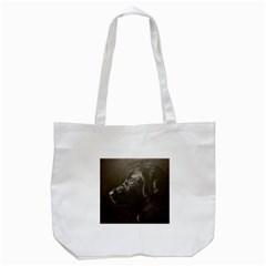 Black Lab Tote Bag (white)