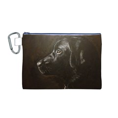 Black Lab Canvas Cosmetic Bag (Medium)