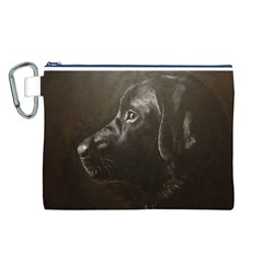 Black Lab Canvas Cosmetic Bag (Large)