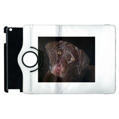 Inquisitive Chocolate Lab Apple iPad 3/4 Flip 360 Case