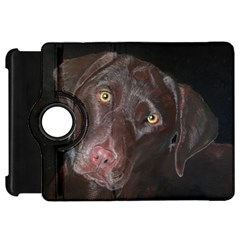 Inquisitive Chocolate Lab Kindle Fire Hd Flip 360 Case