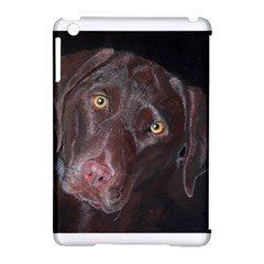 Inquisitive Chocolate Lab Apple Ipad Mini Hardshell Case (compatible With Smart Cover)