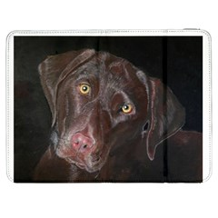 Inquisitive Chocolate Lab Samsung Galaxy Tab 7  P1000 Flip Case