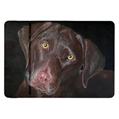Inquisitive Chocolate Lab Samsung Galaxy Tab 8.9  P7300 Flip Case
