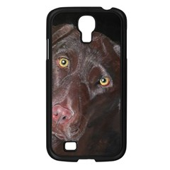 Inquisitive Chocolate Lab Samsung Galaxy S4 I9500/ I9505 Case (black)