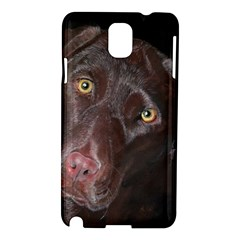 Inquisitive Chocolate Lab Samsung Galaxy Note 3 N9005 Hardshell Case