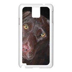 Inquisitive Chocolate Lab Samsung Galaxy Note 3 N9005 Case (White)