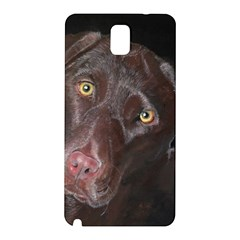 Inquisitive Chocolate Lab Samsung Galaxy Note 3 N9005 Hardshell Back Case