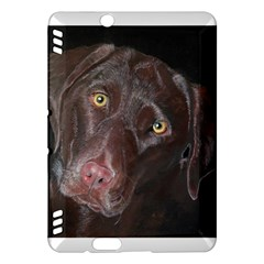 Inquisitive Chocolate Lab Kindle Fire HDX Hardshell Case