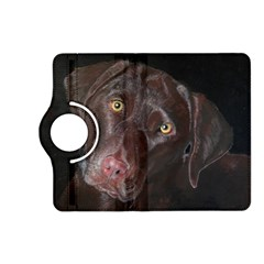 Inquisitive Chocolate Lab Kindle Fire HD (2013) Flip 360 Case