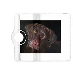 Inquisitive Chocolate Lab Kindle Fire HDX 8.9  Flip 360 Case